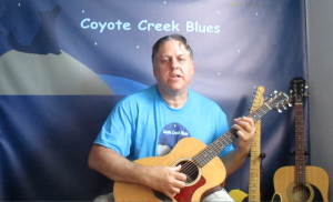 Widget 2 Image - Dennis Hartman In Coyote Creek Blues Shirt Playing Guitar